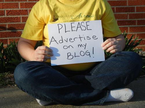 begging blogger