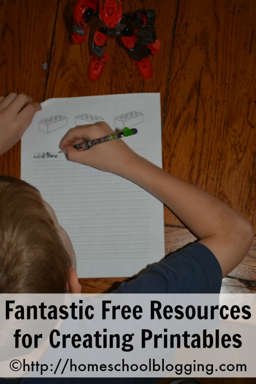 Fantastic Free Resources for Creating Printables for your blog from #homeschool blogging