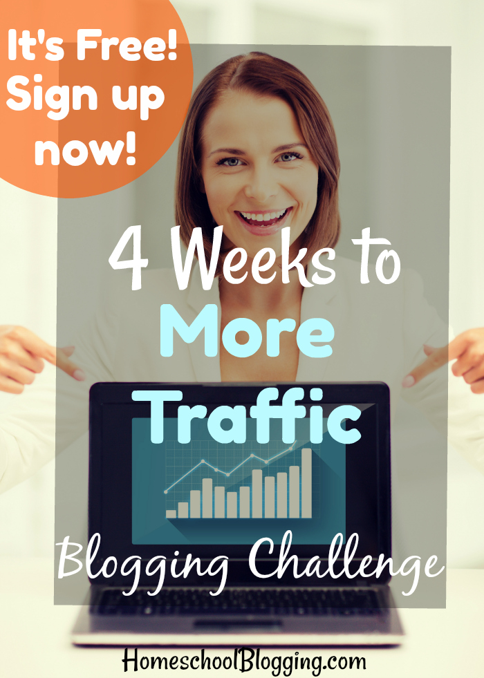 Want to increase your blog traffic? Sign up for our FREE 4-Weeks to More Traffic Blogging Challenge