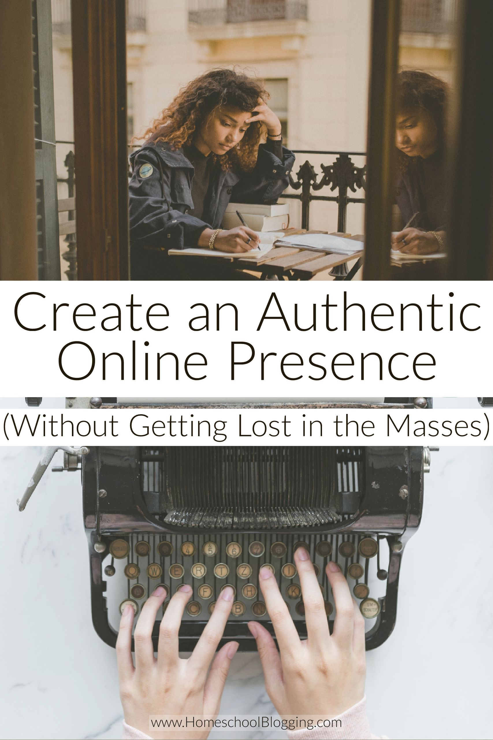 create an authentic online presence